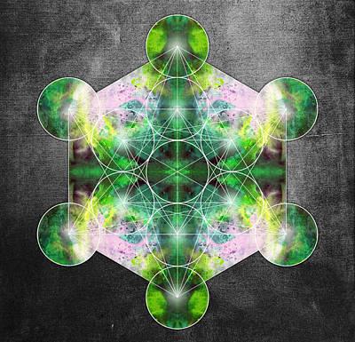 Metatron's Cube Green Poster by Filippo B