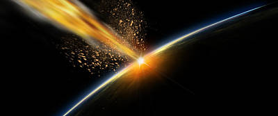 Meteor Hitting Earth Poster by Panoramic Images