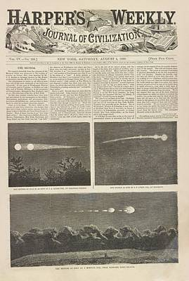 Meteor Procession Of 20 July 1860 Poster by Library Of Congress