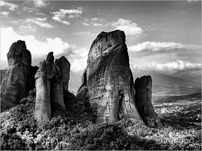 Meteora Greece Strange Rock Formation Poster