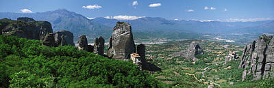 Meteora Monastery Greece Poster by Panoramic Images