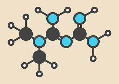 Metformin Diabetes Drug Molecule Poster