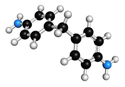 Methylenedianiline Molecule Poster