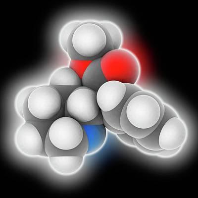 Methylphenidate Drug Molecule Poster by Laguna Design