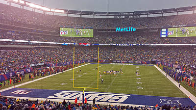 Metlife Stadium And New York Giant Poster by Juergen Roth