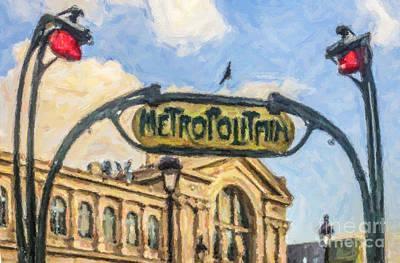 Metro Gare Du Nord Poster