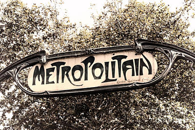 Metropolitain Poster by Olivier Le Queinec