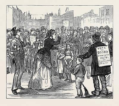 Metropolitan Boroughs Election Womans Rights London 1874 Poster