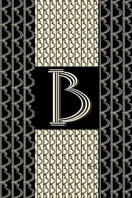 Metropolitan Park Deco 1920s Monogram Letter Initial B Poster by Cecely Bloom