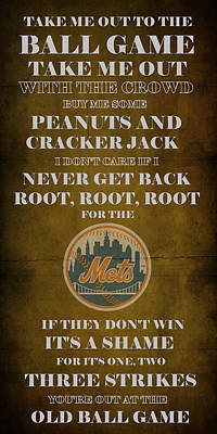 Mets Peanuts And Cracker Jack  Poster by Movie Poster Prints