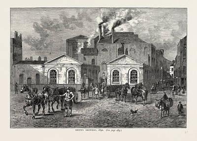 Meuxs Brewery, 1830, London, Uk Poster