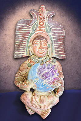 Mexican Clay Artwork Poster by Linda Phelps