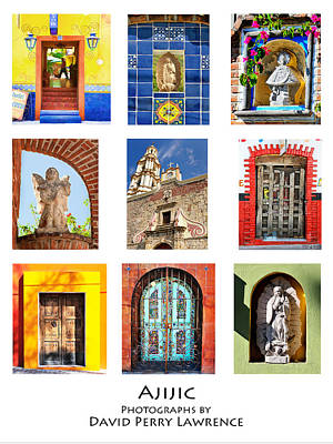 Poster featuring the photograph Colorful Mexican Doors, Ajijic Mexico - Travel Photography By David Perry Lawrence by David Perry Lawrence