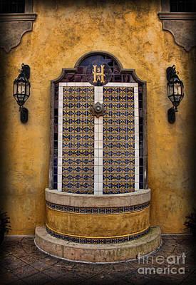 Mexican Hacienda Fountain Poster