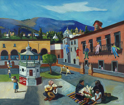 Poster featuring the painting Mexican Memories Of San Miguel by Linda Novick