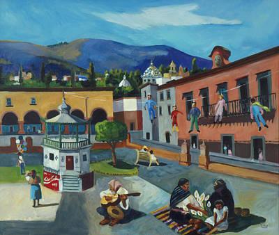 Mexican Memories Of San Miguel Poster by Linda Novick