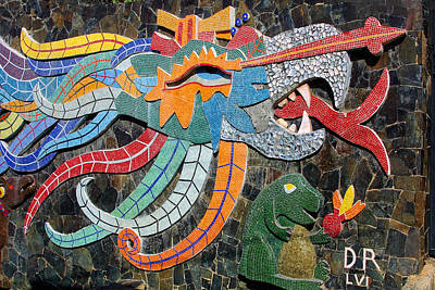 Mexican Mosaic Art Poster by Linda Phelps