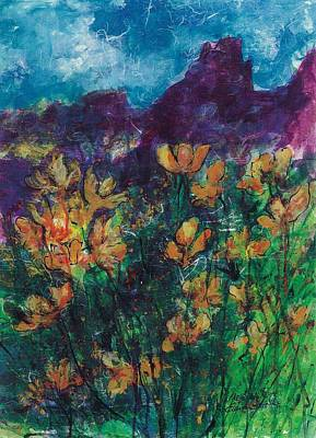 Mexican Poppies Poster by Elaine Elliott
