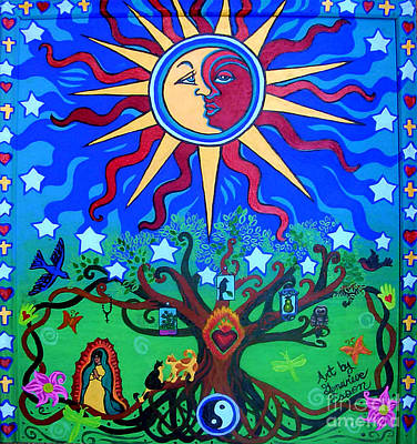 Mexican Retablos Prayer Board Small Poster by Genevieve Esson