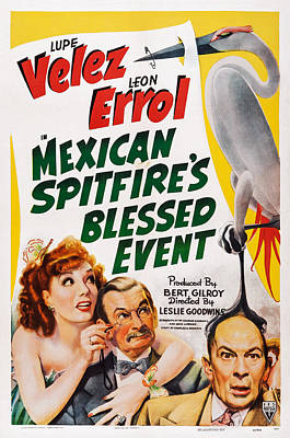 Mexican Spitfires Blessed Event, Us Poster by Everett