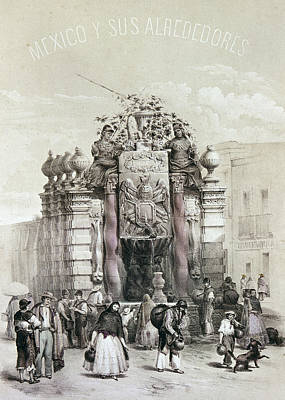 Mexico Fountain Poster