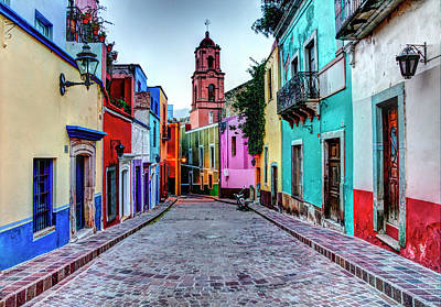Mexico, Guanajuato, Colorful Back Alley Poster