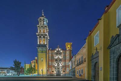 Mexico, Puebla, Church Of San Francisco Poster