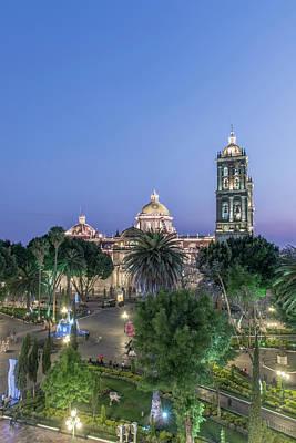 Mexico, Puebla, Zocolo And Puebla Poster