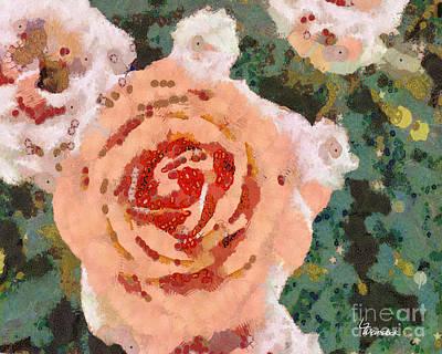 Alameda Meyers House Garden Klimt Rose Poster