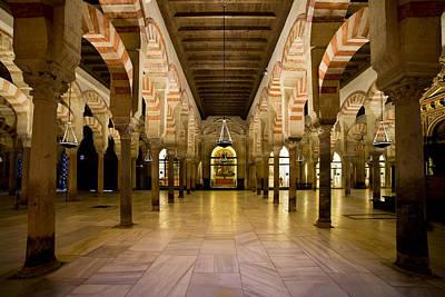 Mezquita Interior In Cordoba Poster by Artur Bogacki