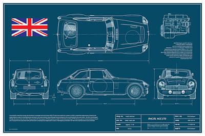 Mgc.gts Blueplanprint Poster