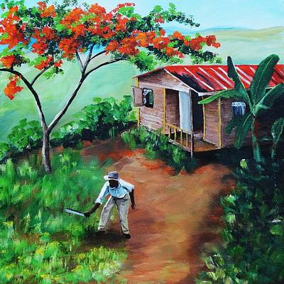 Mi Flamboyan Poster by Migdalia Bahamundi