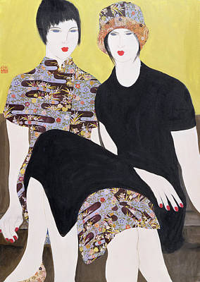 Mia Sorella IIi, 2004 Acrylic With Collage On Paper Poster