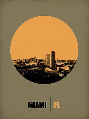 Miami Circle Poster 1 Poster by Naxart Studio