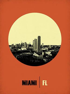 Miami Circle Poster 2 Poster by Naxart Studio