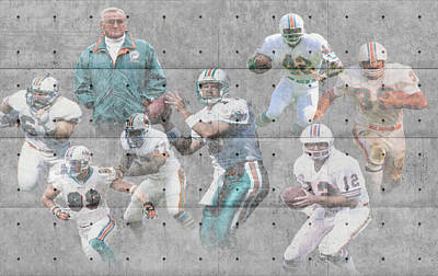Miami Dolphins Legends Poster by Joe Hamilton