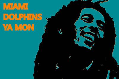 Miami Dolphins Ya Mon Poster by Joe Hamilton