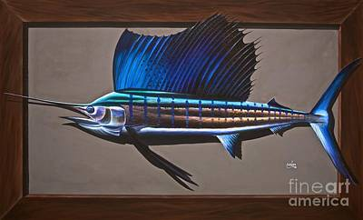 Miami Sailfish Poster by Johnny Widmer
