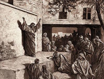 Micah Exhorting The Israelites Poster