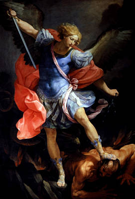 Michael Defeating Satan Poster by Guido Reni