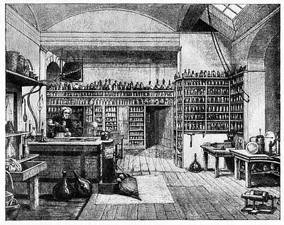 Michael Faraday In His Lab Poster by Cci Archives
