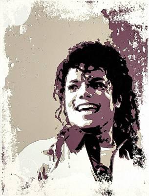 Michael Jackson Portrait Art Poster by Florian Rodarte