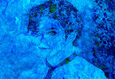 Michael Jackson Splats Blue Poster by Brian Reaves