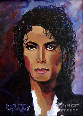 Poster featuring the painting Michael Jackson Timeless Memory by Ecinja Art Works
