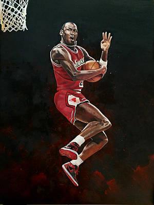 Michael Jordan Cradle Dunk Poster by Michael  Pattison