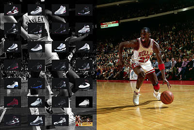 Michael Jordan Shoes Poster by Joe Hamilton