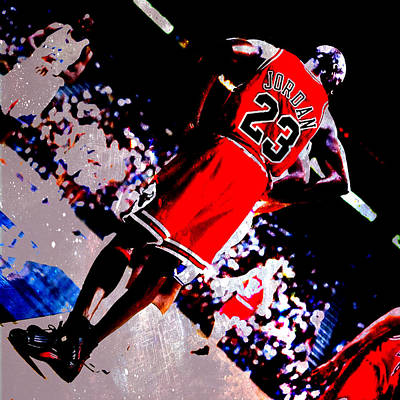 Michael Jordan Standing Tall Poster by Brian Reaves
