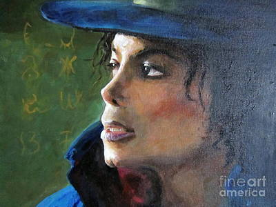 Poster featuring the painting Michael Joseph Jackson by Jieming Wang