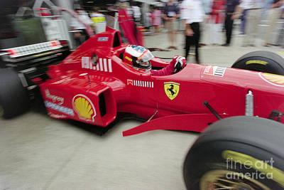 Michael Schumacher Ferrari F310 Poster by Gary Doak