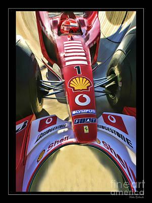 Michael Schumacher Fish Eye Poster by Blake Richards